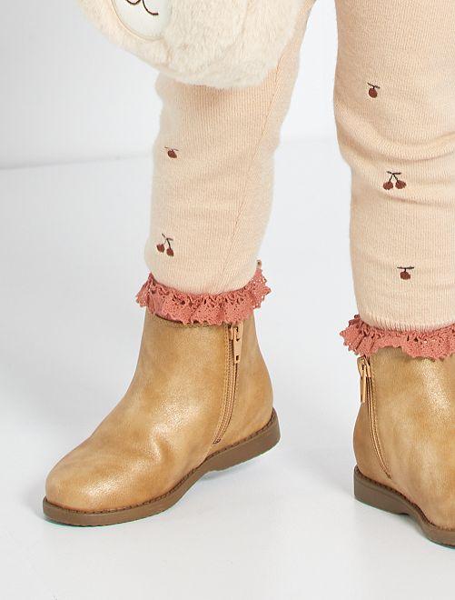 Boots type 'Chelsea'                                         beige