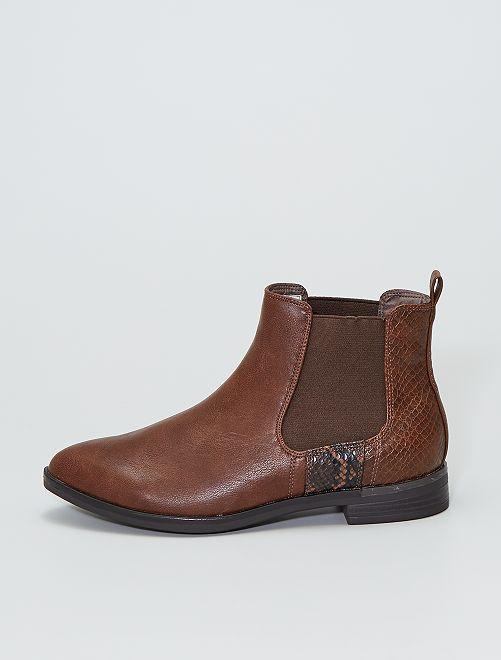 Boots type 'chelsea'                             brun