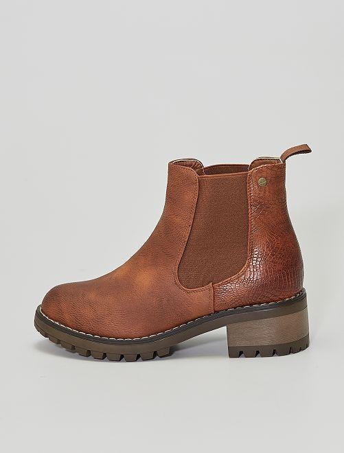 Boots type Chelsea                             brun