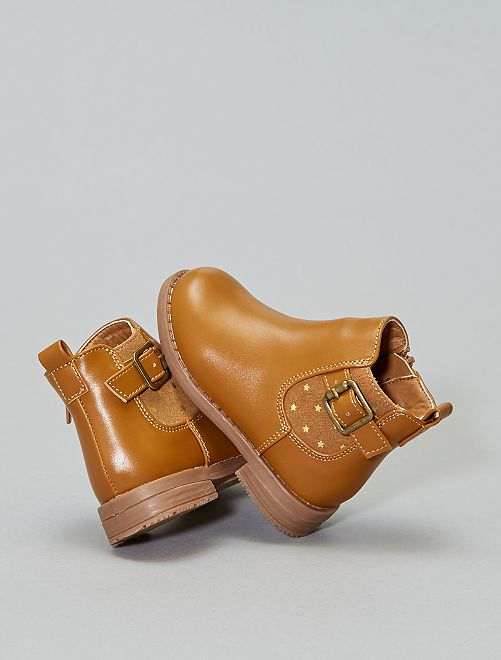 Boots type chelsea                             camel Fille