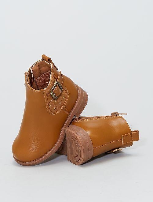 Boots type 'chelsea' 'étoiles'                             camel