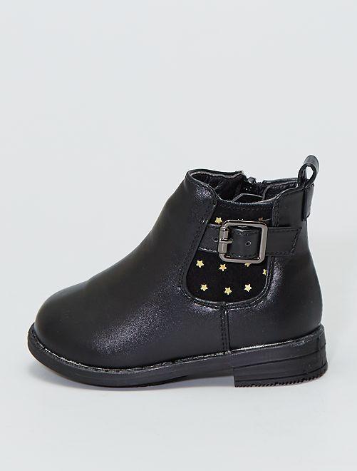 Boots type 'chelsea' 'étoiles'                             noir
