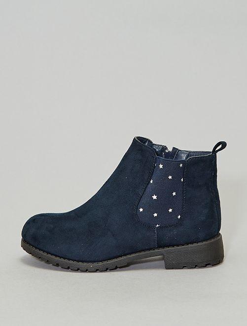Boots type chelsea imprimé 'étoile'                             bleu navy Chaussures