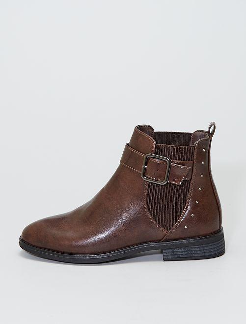 Boots type 'chelsea'                             marron