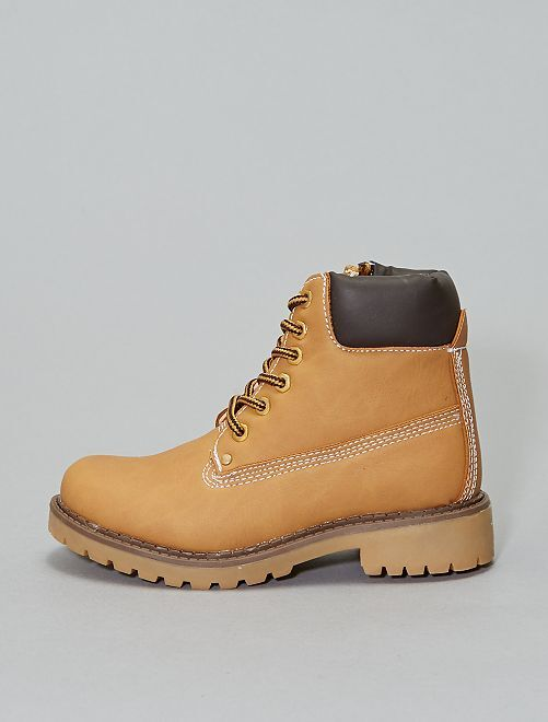 Boots type montagne                             camel