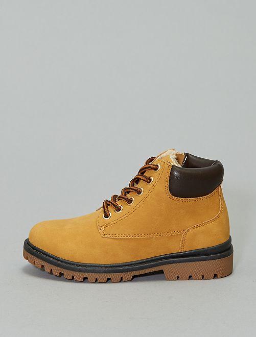 Boots type montagne                                         marron