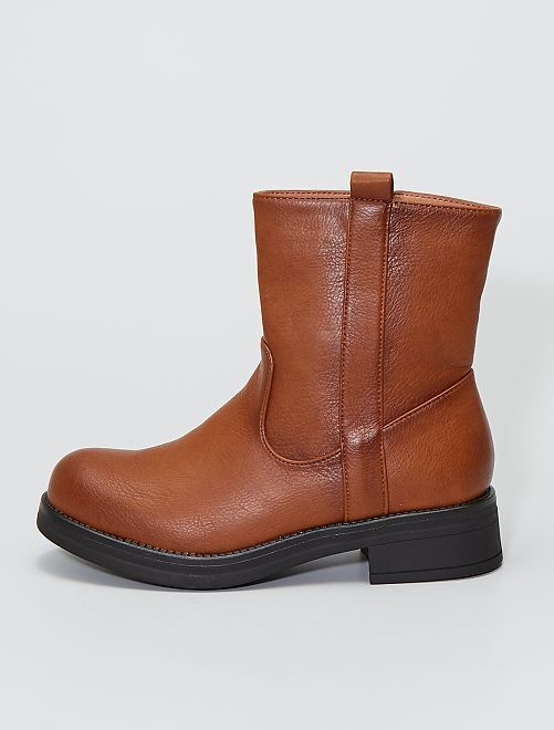 Boots type motarde                                         camel
