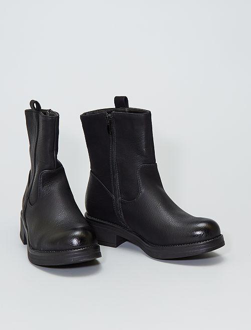 Boots type motarde                                         noir