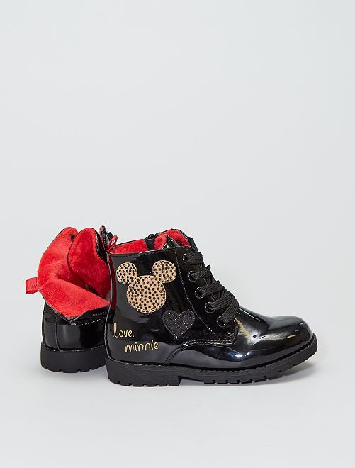 Boots type rangers vernies 'Minnie'                             noir