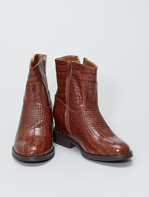 Boots type santiags                                         marron