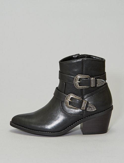 Boots type western                             noir Chaussures