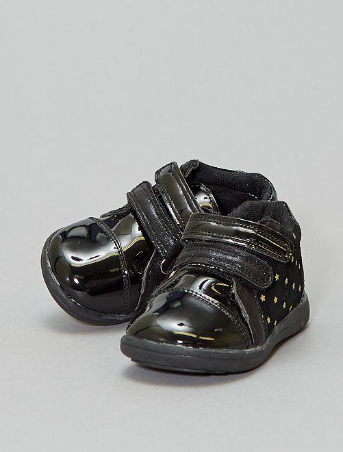Boots vernies à scratchs                             noir Bébé fille