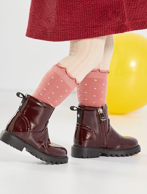 Boots vernies                                         bordeaux
