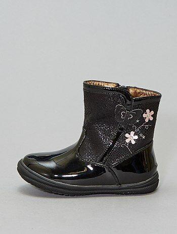 Boots vernies décors fantaisies