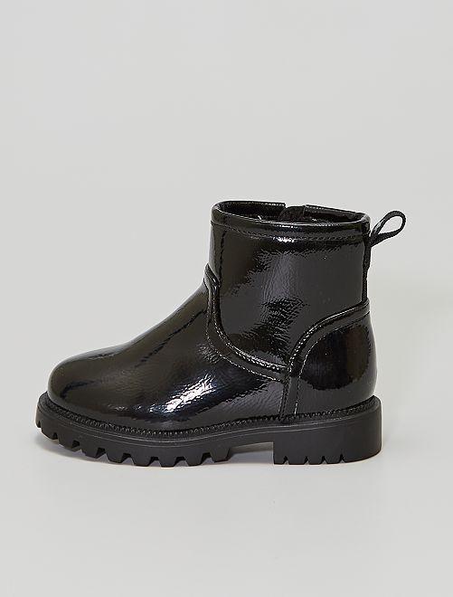 Boots vernies                                         noir
