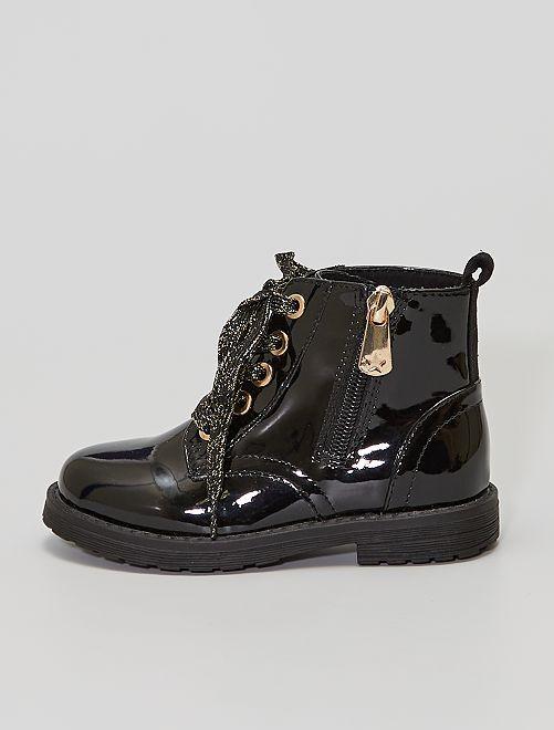 Boots vernies style rangers                             noir