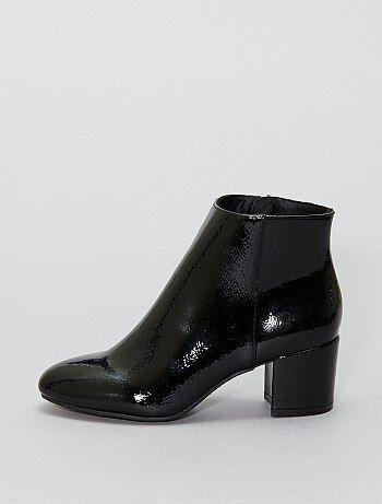 Boots vernis - Kiabi