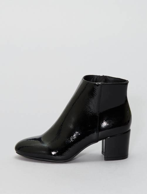 Boots vernis                             NOIR Chaussures