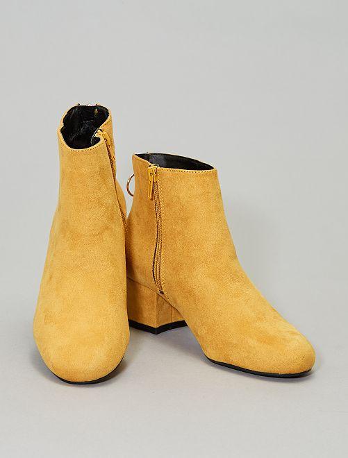 Boots zippées au dos                                         jaune Chaussures