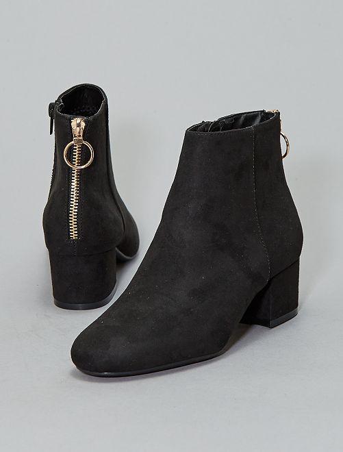 Boots zippées au dos                                         noir Chaussures