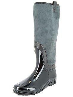 Chaussures femme - Botte de pluie fourrée - Kiabi