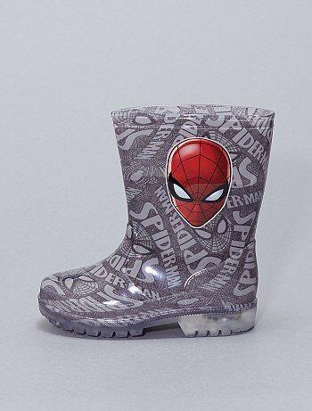 botte de pluie spiderman lumineuse