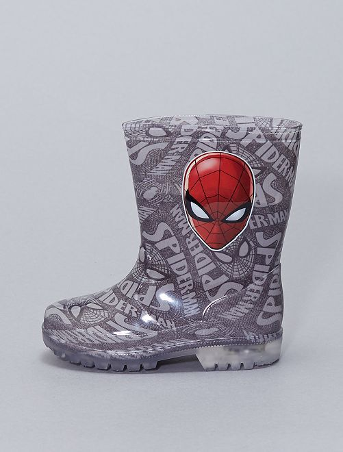 Botte de pluie 'Spider-Man' lumineuses                             gris