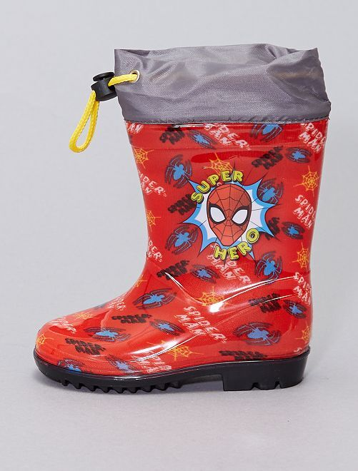 Botte de pluie 'Spider-Man' 'Marvel'                             rouge