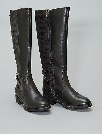 da275d84f8ee4c Soldes bottes femme, bottes à talons & compensées pas cher femme ...