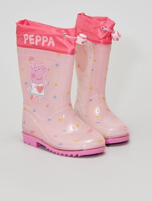 Bottes de pluie en caoutchouc                             rose