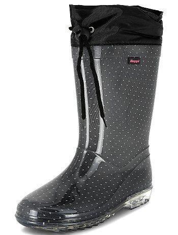 Product Couleur : NOIR, , ,, - Taille : 33, 32, ,,Habillement Chaussures / Chaussures / Chaussures fille / Bottes de pluie  La botte de pluie avec une semelle transparente, on adore ! - Bottes de pluie en  KIABI