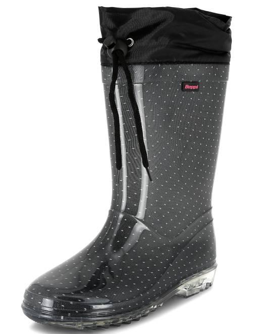 bottes de pluie en plastique chaussures noir kiabi 15 00. Black Bedroom Furniture Sets. Home Design Ideas
