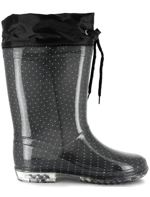 bottes de pluie en plastique chaussures noir kiabi. Black Bedroom Furniture Sets. Home Design Ideas