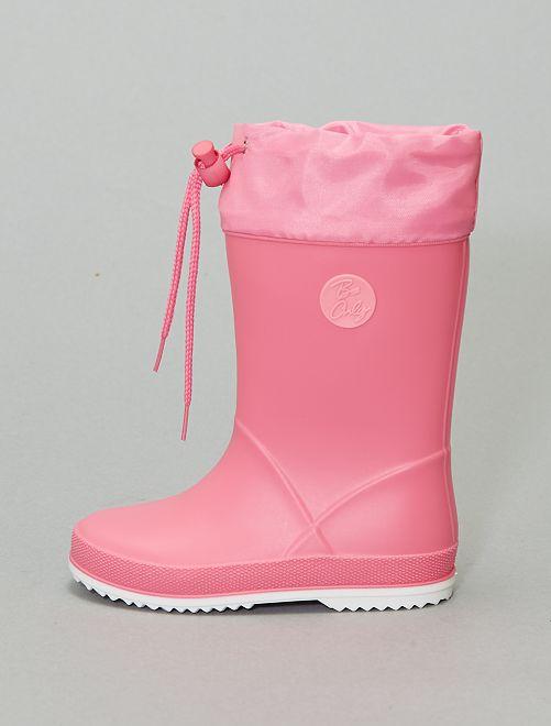 Bottes de pluie en PVC                             rose