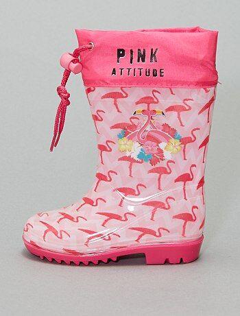 Bottes de pluie 'flamant rose'