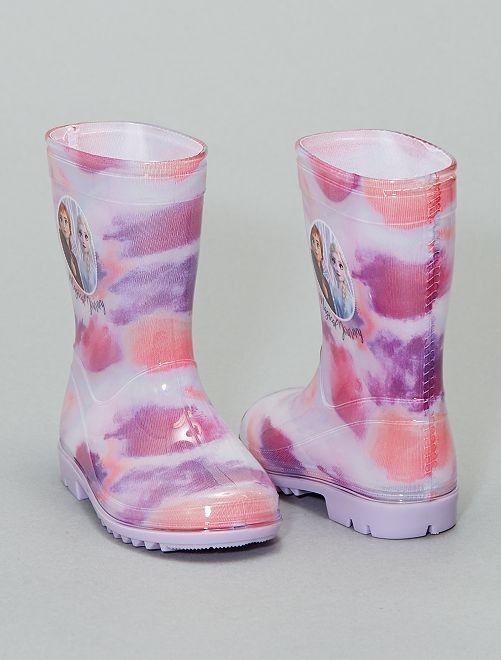 Bottes de pluie 'La Rein des Neiges'                             violet