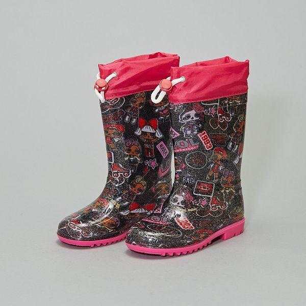 Bottes de pluie 'LOL Surprise' Chaussures rose Kiabi