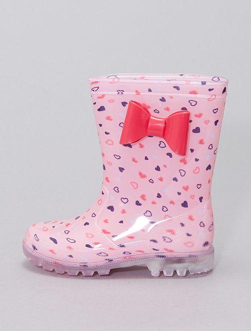 Bottes de pluie lumineuses                             rose