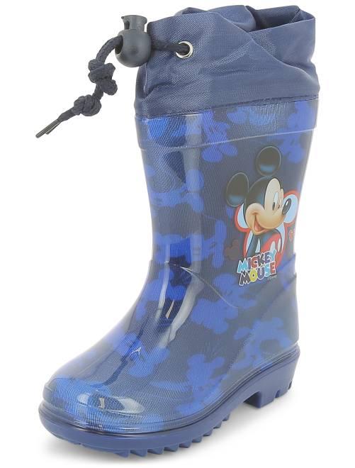 bottes de pluie 39 mickey mouse 39 de 39 disney 39 gar on bleu kiabi 15 00. Black Bedroom Furniture Sets. Home Design Ideas