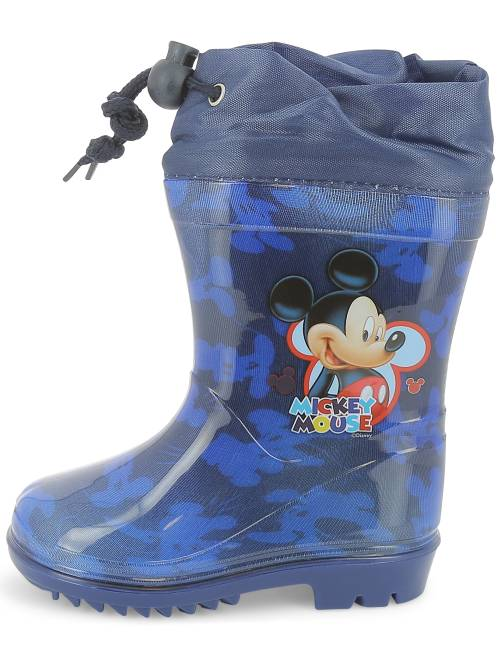 bottes de pluie 39 mickey mouse 39 de 39 disney 39 gar on bleu kiabi 15 00. Black Bedroom Furniture Sets. Home Design Ideas