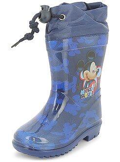 Garçon 3-12 ans - Bottes de pluie 'Mickey Mouse' de 'Disney' - Kiabi