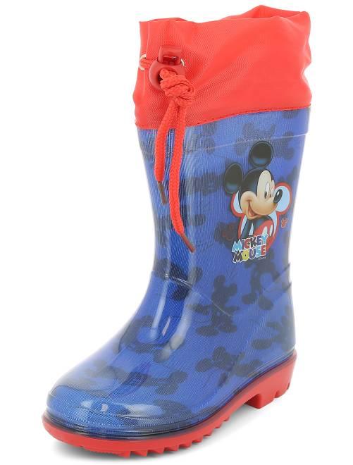 bottes de pluie 39 mickey mouse 39 de 39 disney 39 gar on bleu rouge kiabi 9 00. Black Bedroom Furniture Sets. Home Design Ideas