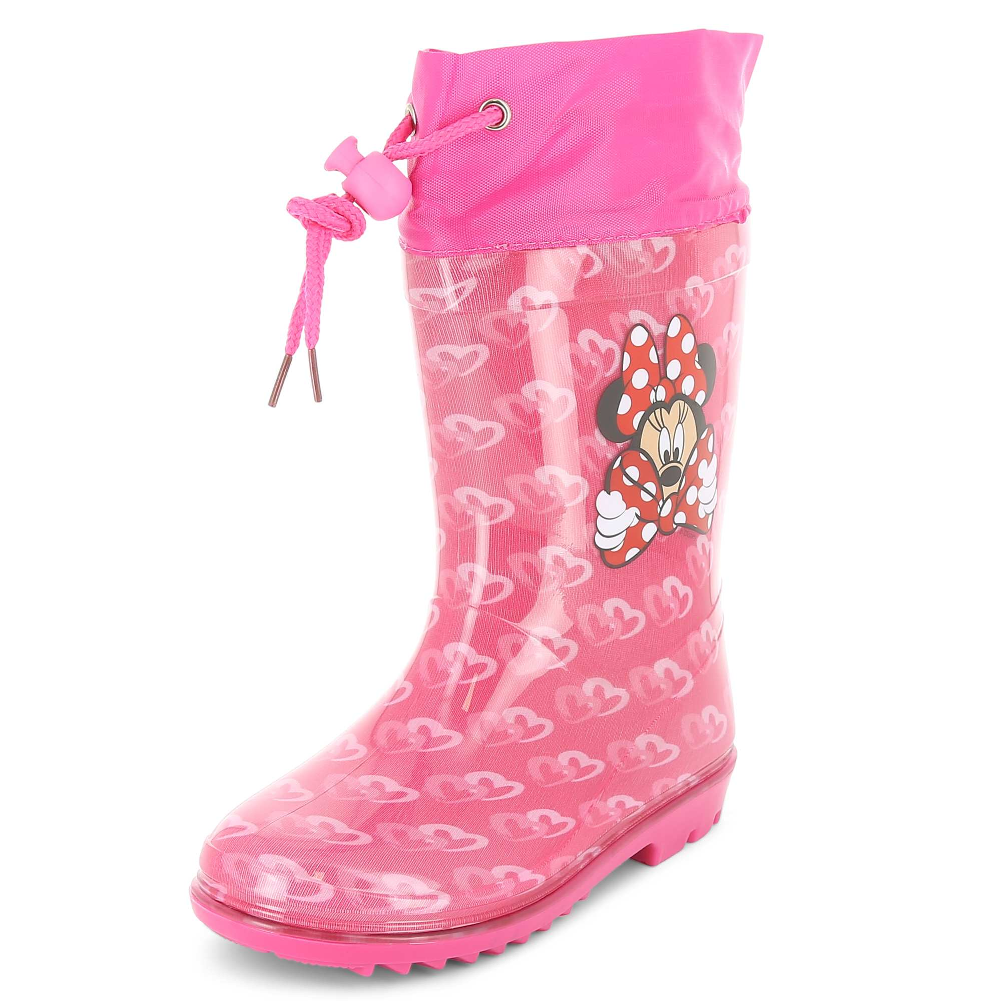 Couleur : fuchsia, rose, ,, - Taille : 32/33, 30/31, ,,Jouer dans les flaques avec 'Minnie', ça donne envie ! - Bottes de pluie en plastique