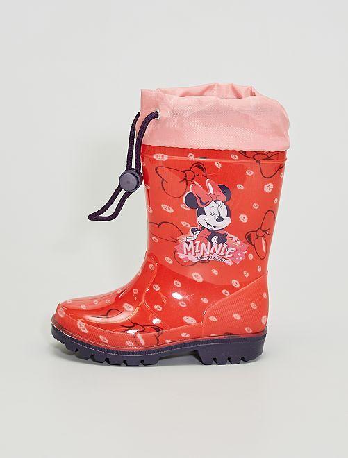 Bottes de pluie 'Minnie Mouse'                             rouge