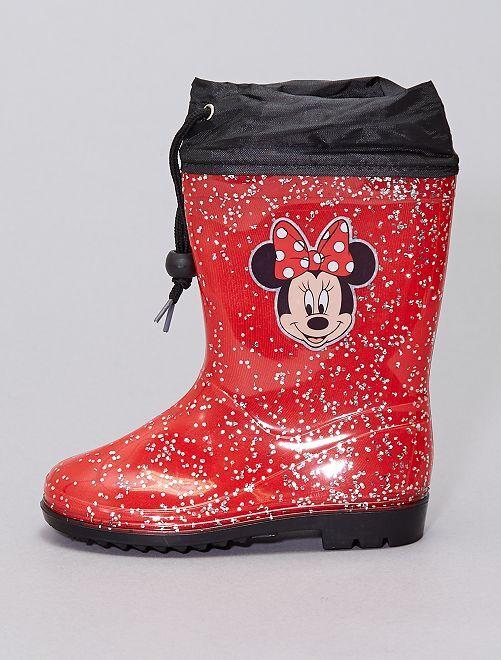 Bottes de pluie 'Minnie'                             rouge