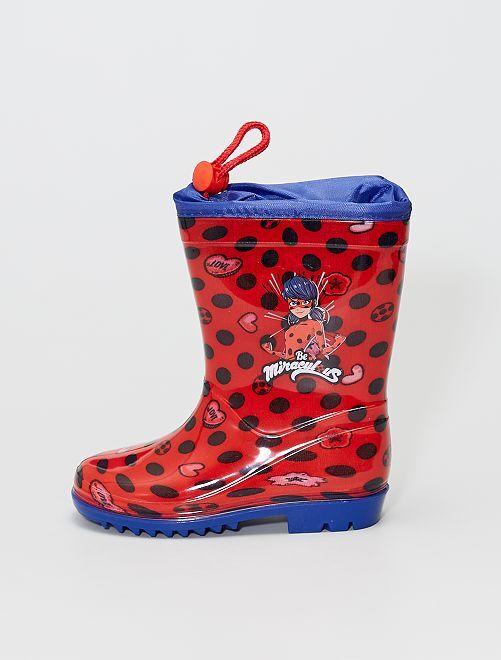 Bottes de pluie 'Miraculous'                             rouge