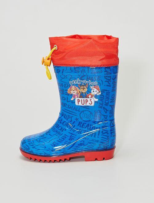 Bottes de pluie 'Pat'Patrouille'                             bleu