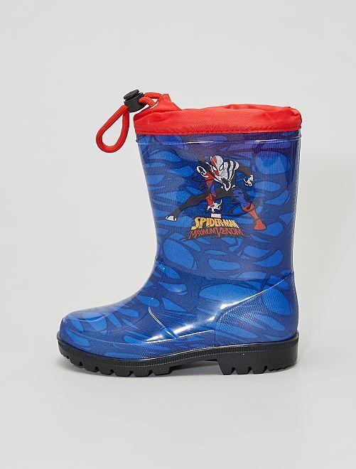 Bottes de pluie 'Spider-Man'                             bleu