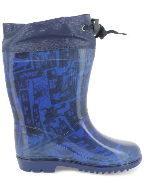 bottes de pluie 39 spider man 39 gar on bleu bleu kiabi 15 00. Black Bedroom Furniture Sets. Home Design Ideas