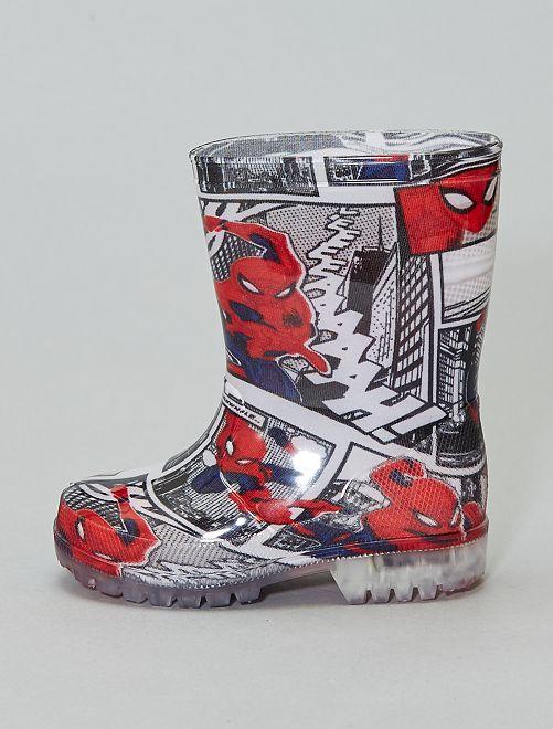 Bottes en caoutchouc lumineuses 'Spiderman'                             gris Chaussures